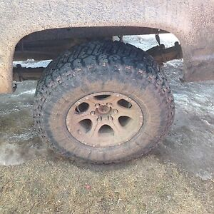 33in with 16 inche rims