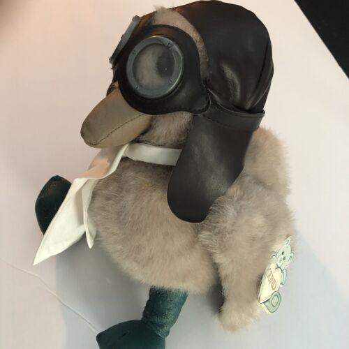 Vintage Eddie Bauer Gund Plush ADMIRAL BIRD Cute Pilot Helmet Goggles Duck - $20.95