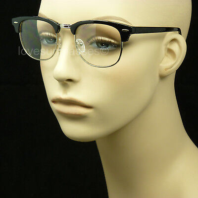 Clear lens glasses nerd geek fake men women retro vintage hipster frame color