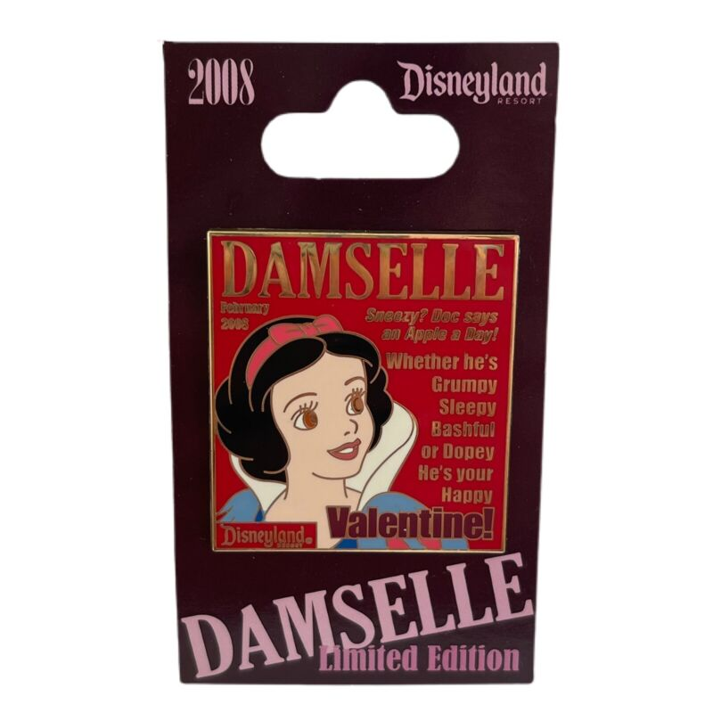 Disney DLR Pin 59547 Damselle Magazine Collection 2008 Snow White February LE