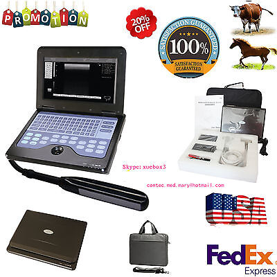 Usa Seller Veterinary Laptop Ultrasound Scanner Vet Machine 7.5mhz Rectal Probe