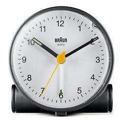Braun BN-BC01BW Black White Quartz Alarm Classic Travel Clock