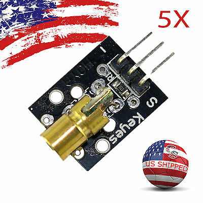 5pcs 5x Ky008 Laser Transmitter Module For Arduino Avr Pic Fast Us Ship