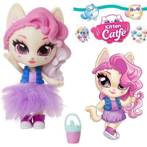 Jakks Series 1 KITTY PURRCINO Kitten Catfe Doll Mystery Purrista Girls Pink Hair