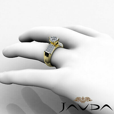 Heart Cut Diamond Engagement Prong Invisible Setting Ring GIA I Color SI1 2.2Ct 8