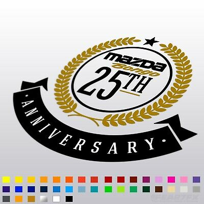 Mazda Bongo Celebrating 25th Anniversary Badge Vinyl Decal Sticker 4WD Friendee