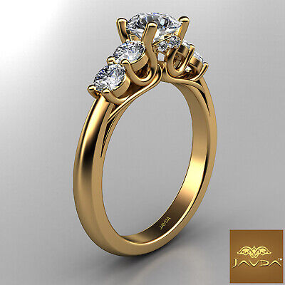 5 Stone Trellis Setting Round Diamond Engagement Prong Ring GIA F Color SI1 1Ct  6