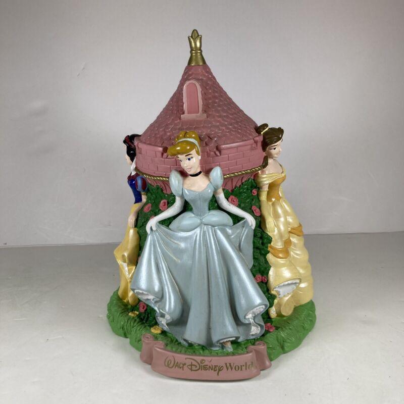 Walt Disney World Princess Vinyl Coin Bank - Cinderella Belle Snow White Aurora