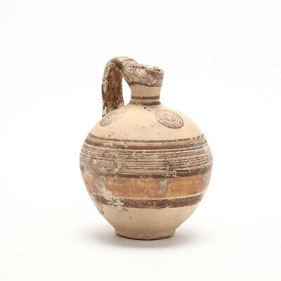 Authentic Cypro-Archaic Bichrome Jug, circa 700-500 B.C.
