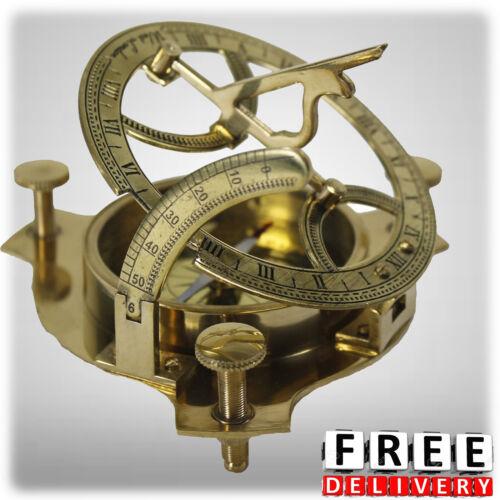 "Brass Sundial Compass 4"" Nautical Maritime Antique Vintage Style Sun Dial Gift"