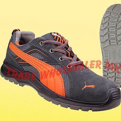 Puma Safety Orange Flash Lo Safety Toecap Trainer Shoes Work boots