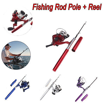 Travel Rod Reel - Protable Telescopic Spinning Fishing Pole Rod And Reel Combo Set For Travel I7E1
