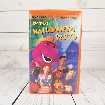 Halloween Movies On Tv (VHS Barney's Halloween Party Classic Collection Never Seen on TV Purple)