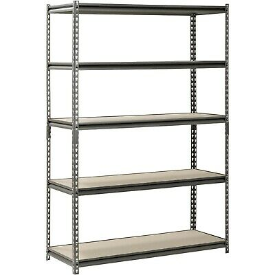 Heavy Duty Metal Muscle Rack Shelving Storage 48w X 18d X 72h Garage 5 Shelf