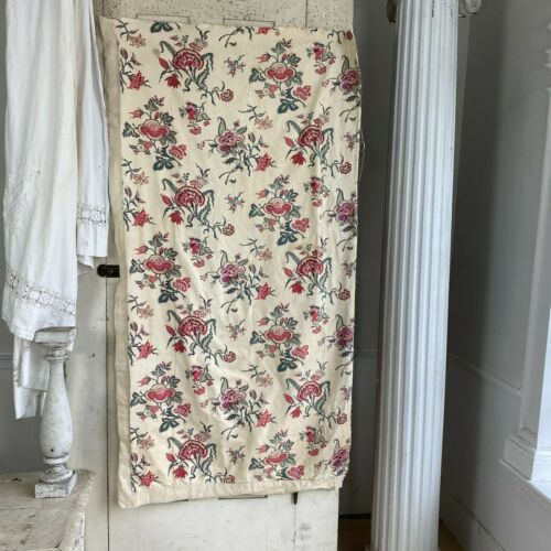 Fabric Antique French Indienne printed cotton curtain 1850 - 1880 Mulhouse ~*~