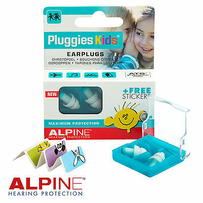 ALPINE PLUGGIES KIDS Childrens Earplugs for Swimming & Watersports - FREE UK P&P