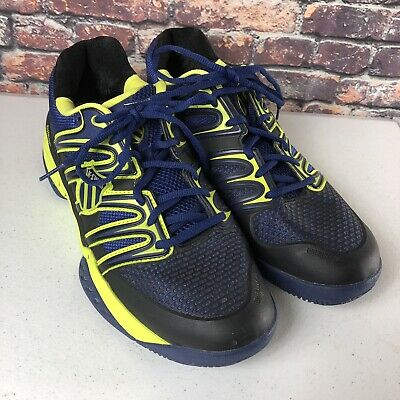 Men's K-Swiss BigShot Preowned Tennis Shoe Size 12 Blue & Neon Yellow ()