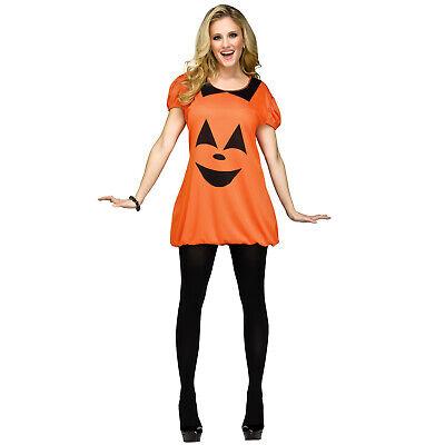 Cute Costumes Women (Teen Women's Cute Pumpkin Halloween Festive Instant Classic Costume Dress)