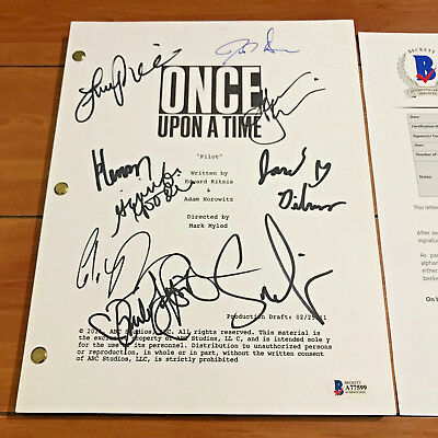 ONCE UPON A TIME SIGNED FULL 62 PAGE PILOT SCRIPT BY 8 CAST w/ BECKETT BAS COA