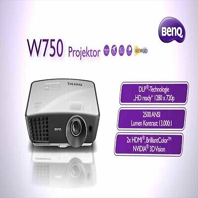 BenQ W750 NVIDIA® 3DVision™ Ready Home Cinema (DLP) Short Throw HDMI Projector🎥