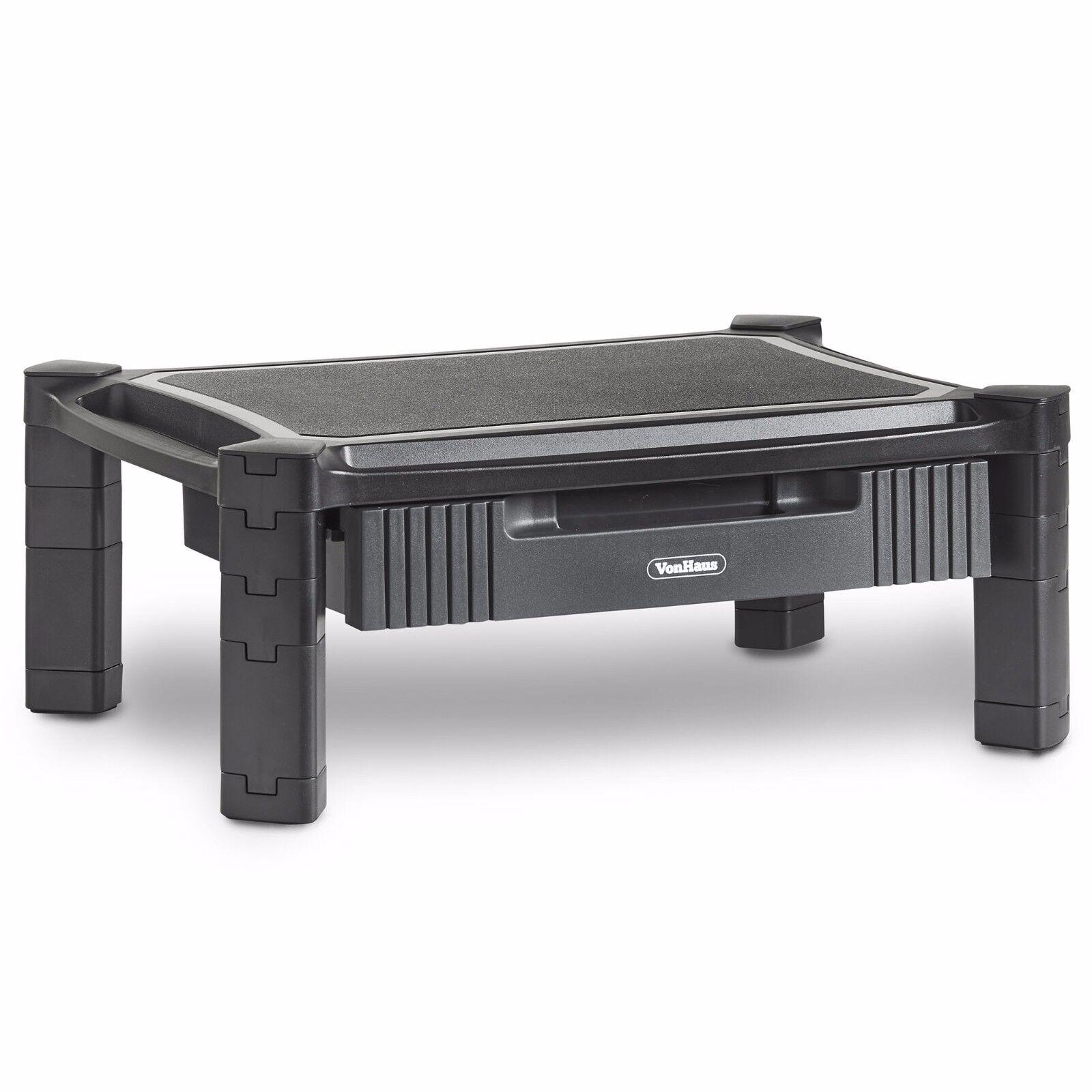 VonHaus Height Adjustable Monitor Desk Smart Stand Mount Ris