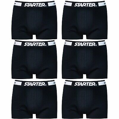 STARTER Core® Herren Boxershorts Schwarz Weiß (6er Pack) 95% Baumwolle Shorts Starter