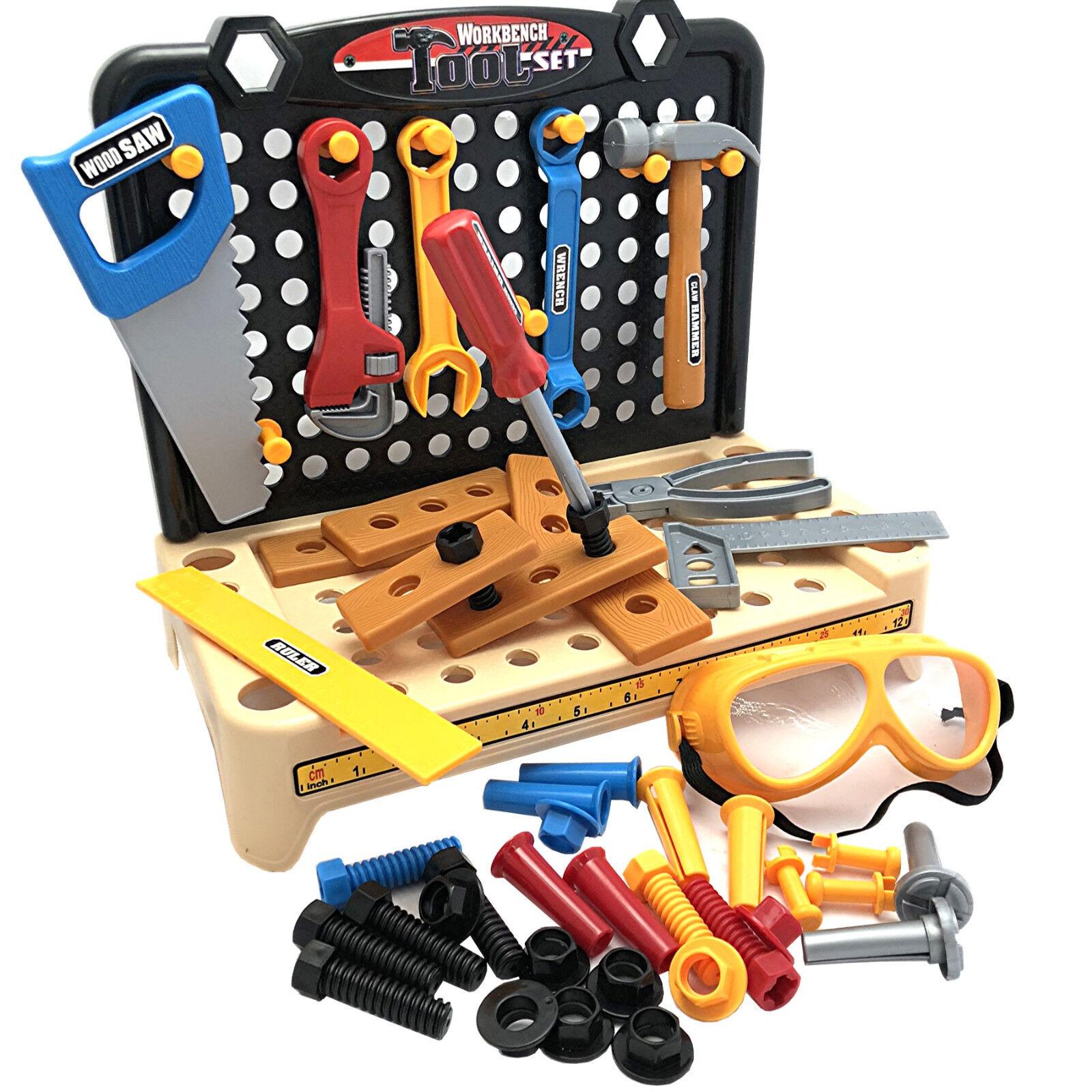 Werkbank für Kinder Werkstatt Spielzeug Werkzeugbank Kinderwerkstatt 58-teilig
