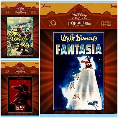 Topps Disney Collect El Capitan Theater Posters: Mulan, Fantasia, 20,000 Leagues