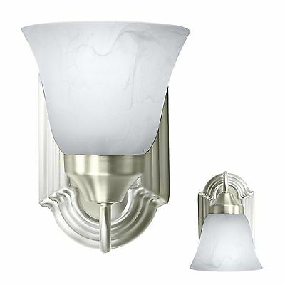 - Brushed Nickel Wall Sconce Light Fixture Interior Lighting Single Light Room