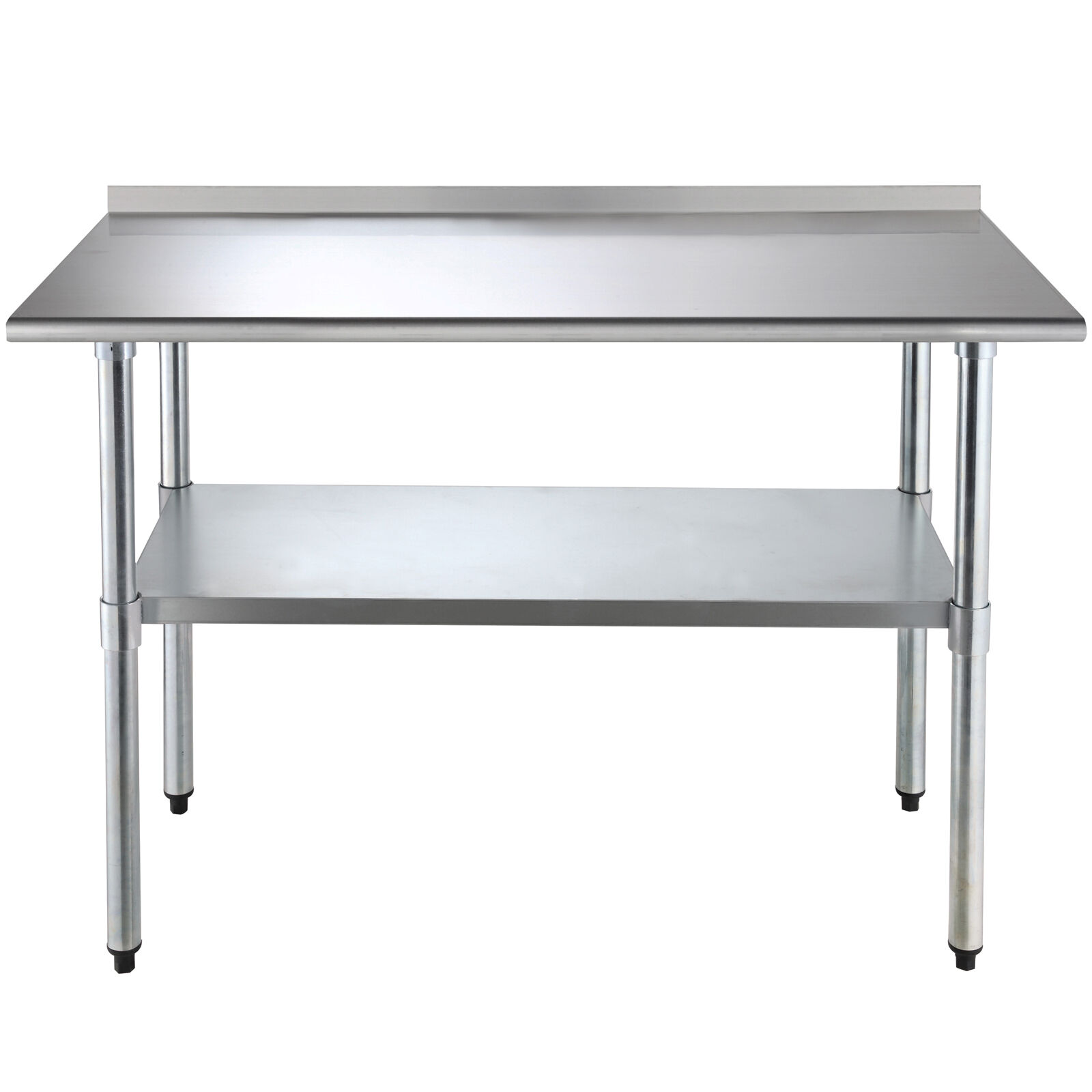 work prep table stainless steel heavy duty commercial home kitchen wbacksplash - Kitchen Prep Table Stainless Steel