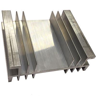 Large Aluminium Heatsink Power Amplifier Supply Transistor Ic Fet Pa 76x90x30mm