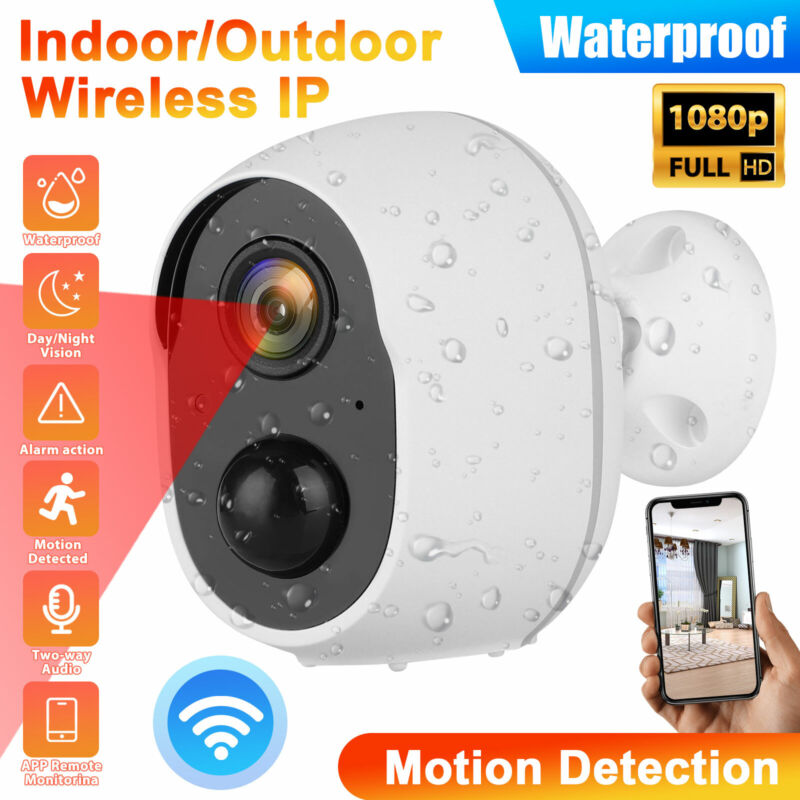 1080P Battery Powered Energy Security Camera Wireless WiFi IP Home Full HD CCTV