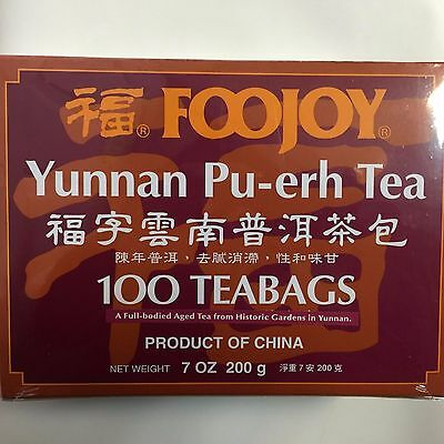 FooJoy - Yunnan Pu-Erh Tea - 100 Tea Bags