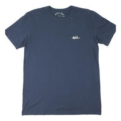 Aloha To Zen Mens Yin Yang Surf Graphic S/S T-Shirt Navy L New