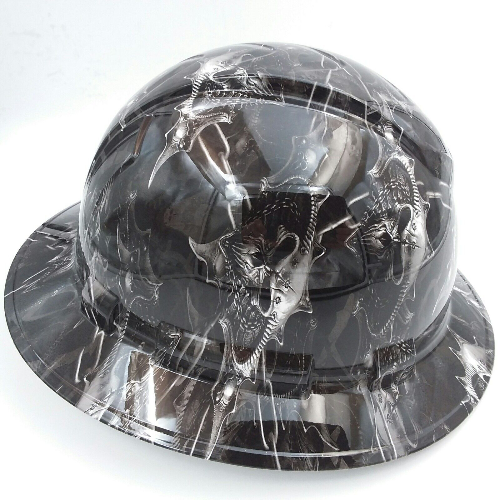 Hard Hat custom hydro dipped , OSHA approved HELL RAISER SKULLS !!!NEW!!!! 2