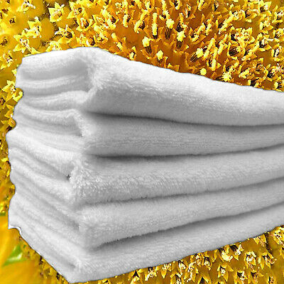12 HAND TOWELS 16 x 27  WHITE  3lbs  COTTON GYM NAIL SALON H