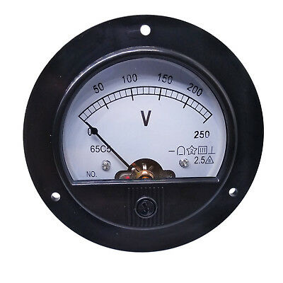 Us Stock Dc 0 250v Round Analog Volt Pointer Needle Panel Meter Voltmeter