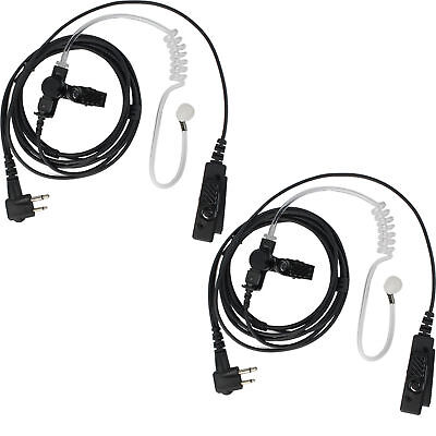 Retevis 2-Pin Mic Headset Earpiece for Radios Motorola CP040 CP150 GP300 SP 2PCS