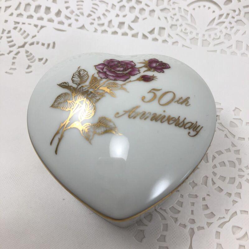 50th Anniversary Heart Shape Box Romance Rose Collection