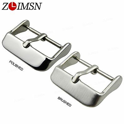 Brushed / Polished Watch Buckle Silver Stainless Steel Strap Pin Needle Clasp