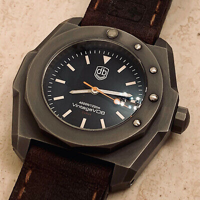 Vintage VDB Handmade Military Distressed Steel Swiss Automatic ETA 1200m Diver
