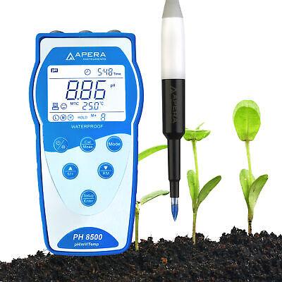 Apera PH8500-SL Portable pH Meter for Soil with LabSen® 553 POM pH Electrode