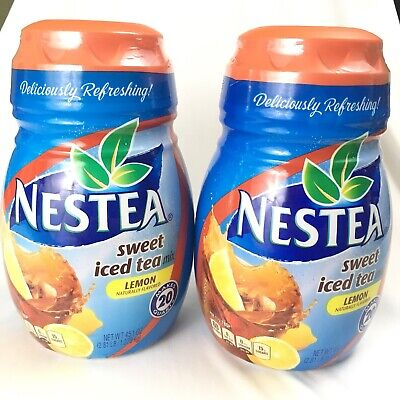 Lot Of 2 Nestea Sweet Iced Tea Mix Lemon Flavor 45.1 OZ Best By May