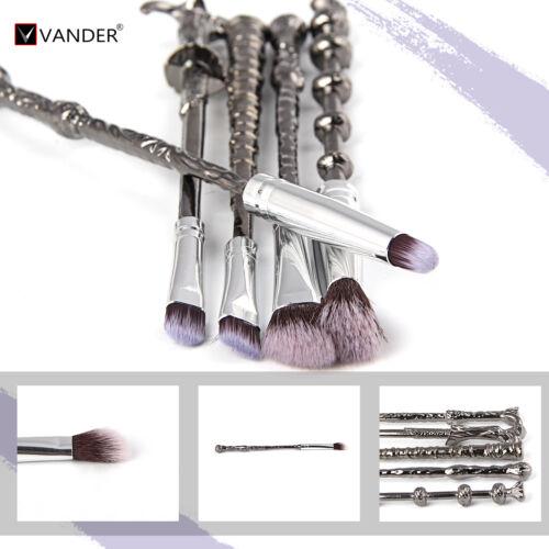 5pcs Harry Potter Magic Beauty Makeup Brushes Metal Wizard Wand Brush Tools New