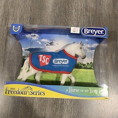 BREYER 5479 TSC Classic Grey Percheron Draft Horse with BLUE blanket Exclusive