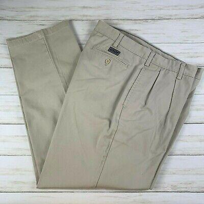 Men's Nautica Double Pleat 38 x 32 Light Beige Khaki dress pants