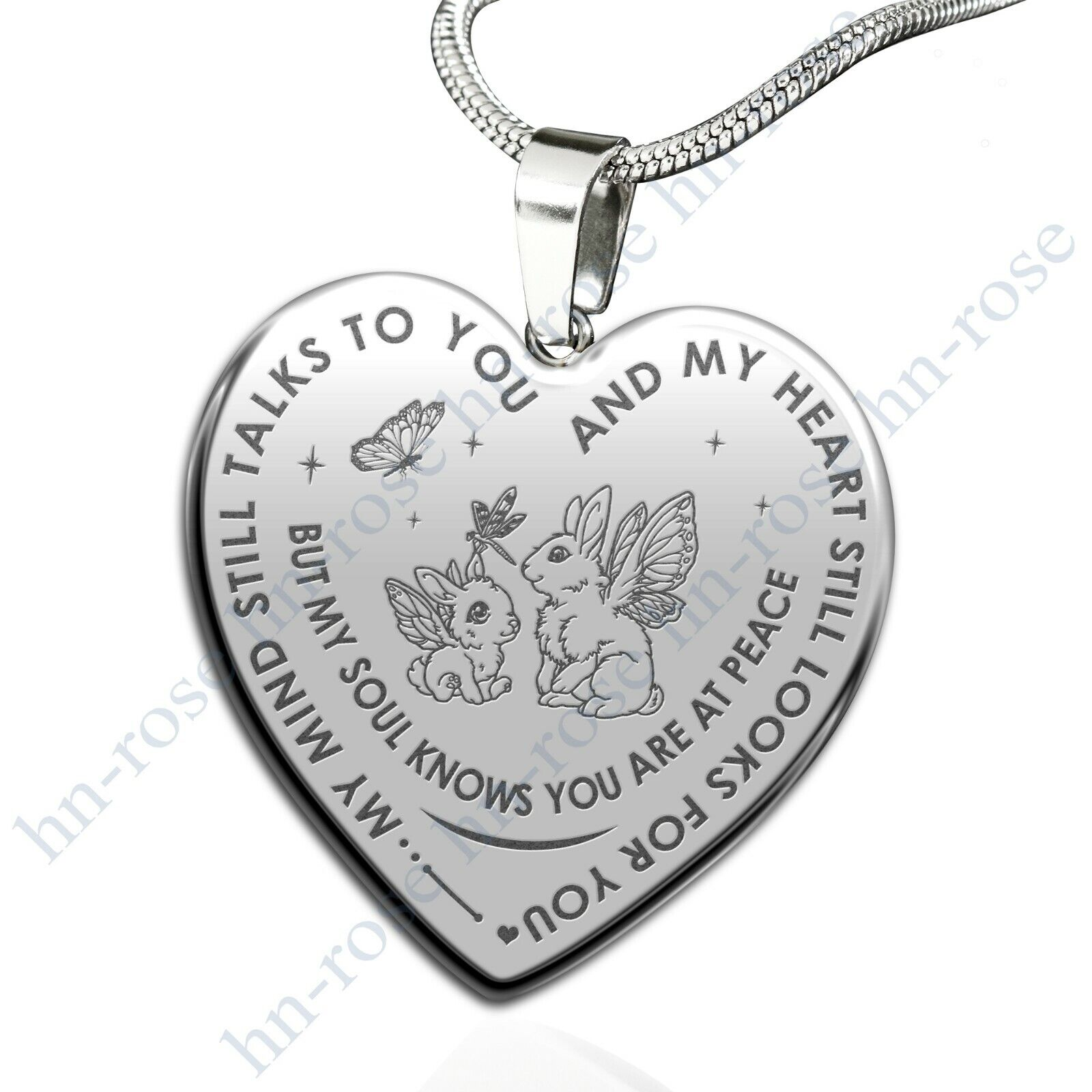 Rabbit Love Gifts My Mind Still Talks To You Luxury Engraved