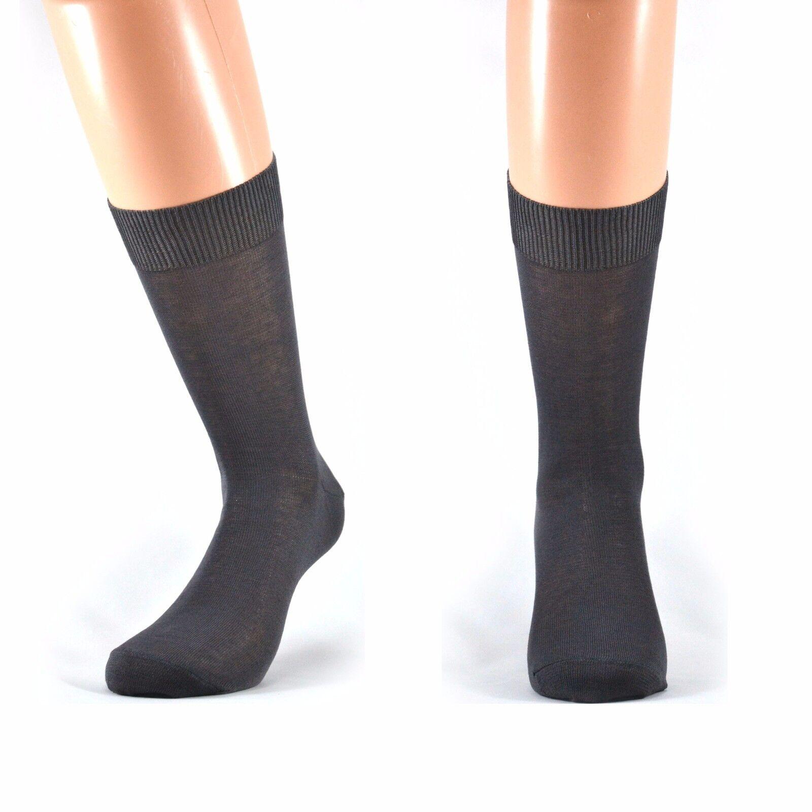 6 paia di calze corte UOMO in 100 % cotone Filo di Scozia