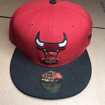Chicago Bulls Windy City NBA New Era Fitted Hardwood Classics Hat Size 7 3/4