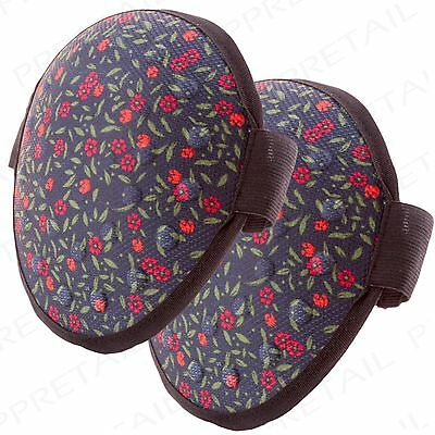 2 x FLORAL GARDENING KNEE PADS Adjustable Strap Outdoor Kneeling Guard Cushion
